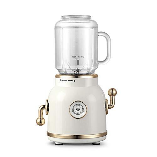 Fruit Juicer Blender Blender Retro Juice Blender Portable Mixer Personal Electric Power Mixer les fruits et légumes avec couvercle unique Serve Voyage (Color : Beige)