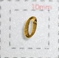 【数字ネイルシール】1筆記体《0》ゴールド/1シート9枚