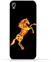 Infinix Zero 2 X509 TPU Silicone Protective Case with Horse On Flame