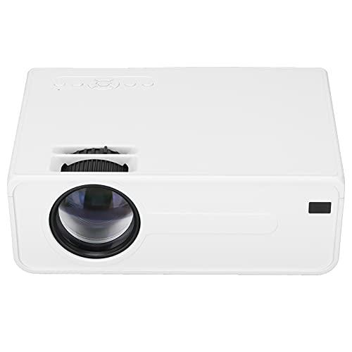 Wifi Mini Proiettore, Prtable Home Theater Videoproiettore, HD Telecomando Proiettore di Film Senza Fili Rotazione Dell'immagine a 360° Proiettori Digitali Intelligenti Per USB SD AV Smartphone(EU)