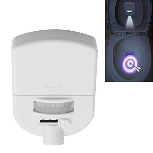 jfhrfged Toilette Beamer Licht Induktion Projektor Nachtlicht für die Verwendung auf Toilettenschüsseln Kinder Töpfchentraining (Weiß, Größe: 8,3 × 5,7 × 1,5 cm)