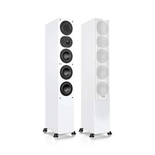 Nubert nuLine 264 Standlautsprecherpaar | Lautsprecher für Musikgenuss | Heimkino & HiFi Qualität auf hohem Niveau | Passive Standboxen mit 3 Wege Technik Made in Germany | Standbox Weiß | 2 Stück