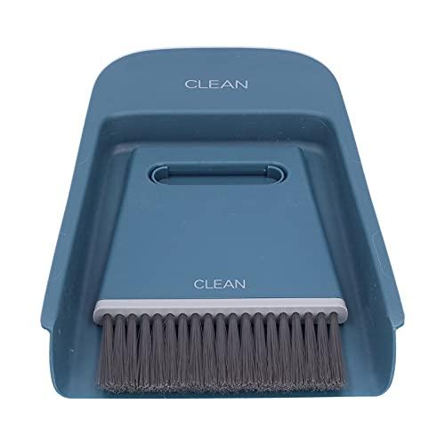 Mini cepillo de limpieza con juego de recogedor, mini cepillo de mano y recogedor portátil para suelo, sofá, escritorio, teclado, coche
