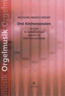 3 KIRCHENSONATEN - arrangiert für Querflöte - Orgel [Noten / Sheetmusic] Komponist: MOZART WOLFGANG AMADEUS