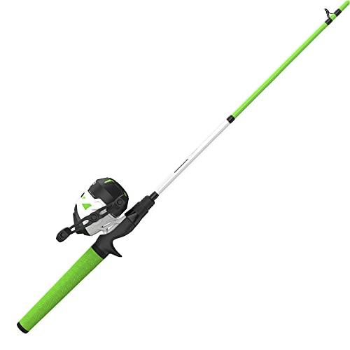 Zebco Roam Green Spincast Reel and 2-Piece Fishing Rod Combo,...