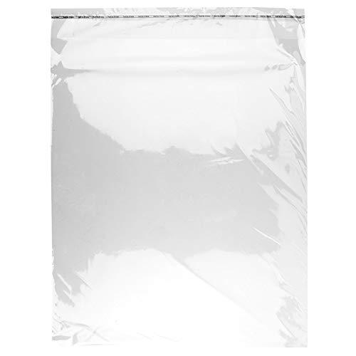 Ideen mit Herz Cellophanhüllen, 100 Stück, verschließbar, selbstklebend | Folientüten, Plastiktütchen, Cellophanbeutel (50 x 40 cm)