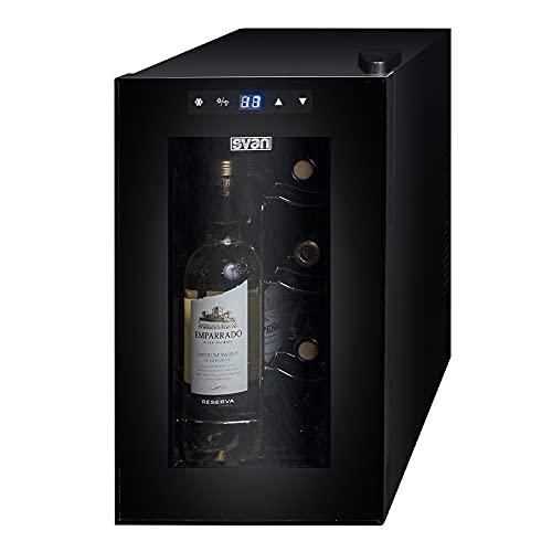 Svan SVVN008I Vinoteca Intercambiador Peltier 8 Botellas Negra
