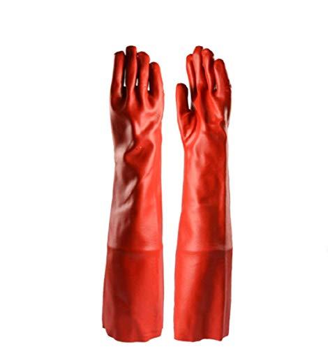 WEHOLY 60CMPVC Schutzhandschuh, vulkanisiert, säure- und alkalibeständig, antichemisch, lösungsmittelbeständig
