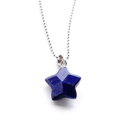 ブルーコーン パワーストーン ペンダント チャーム SV925 ラピスラズリ 星 スター 星型 ブルー(約21mmx13mm) 幸運 お守り石 ネイビー シルバー925 おしゃれ シンプル 可愛い かわいい メンズ レディース (ペンダントトップのみ) チ
