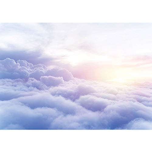 Vlies Fototapete PREMIUM PLUS Wand Foto Tapete Wand Bild Vliestapete - Himmel Wolken Sonne Sonnenaufgang - no. 2928, Größe:254x184cm Blueback Papier