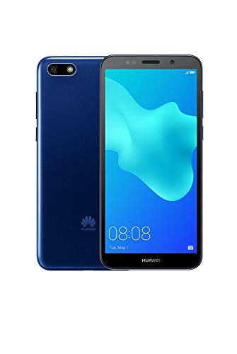 "Huawei Y5 2018 DRA-L23 Dual SIM FullView Display 5.45"" 4G LTE Quad Core 16GB 8MP Smartphone Factory Unlocked Android GO (International Version- No Warranty) (Blue)"