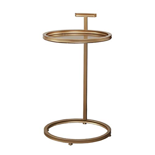 Tables basses Tables Table Basse Nordique Table D'appoint Fer Forgé Petit Coin Salon Canapé Rond Table D'appoint Table De Chevet Métal Simple Moderne Table De Téléphone Tables de Dos de canapé