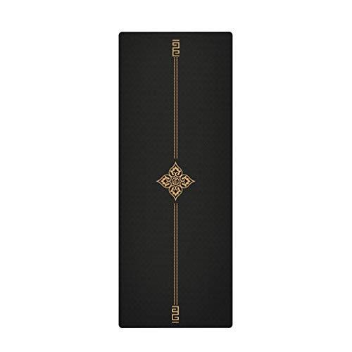 Esterilla de Yoga Yoga línea del Oro Negro Mat TPE 183 * 68cm * 6 mm extendido Espesar Entrenamiento Mat Alta Densidad Uso en el hogar Gimnasio fintess Euipment Colchoneta de Yoga (Color : B)