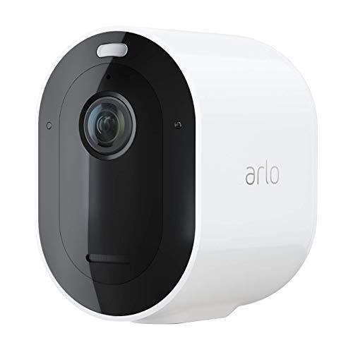 Arlo Pro4 Spotlight WLAN Überwachungskamera | Kabellos, Innen / Aussen, 2K, Farbnachtsicht, Bewegungsmelder, 6 Monate Akku, 2-Wege Audio, direkte WLAN Verbindung, kein Hub benötigt, VMC4050P, Weiß