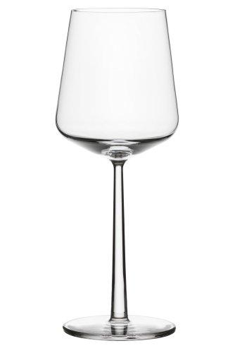 Iittala Essence Geschirr-Kollektion rote Weingläser farblos