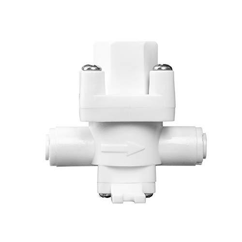 Electroválvula de líquido y gas 1/4 '' de presión de OD Tubo Válvula reductora de estabilización de interruptor regulador del filtro RO Water System Purifier Piezas 3pcs Cierre inteligente de tubos