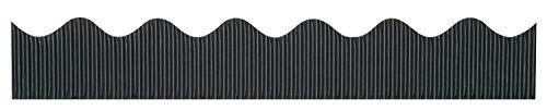 """Bordette Scalloped Decorative Border P37304, 2-1/4"""" x 50', Black, 1 Roll"""