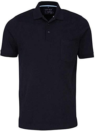 Marvelis Halbarm Poloshirt geknöpfter Quick-Dry schwarz Größe XL