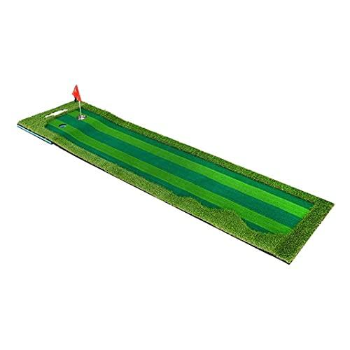 WBJLG Alfombrilla de Golf para Putting Green Alfombra de Golf para Exteriores, Mini Entrenador de Golf portátil para práctica Profesional, Putting Green con Bandeja de Retorno, Alfombrilla de Golf