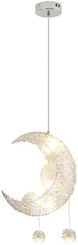 Kinderzimmer Kronleuchter, Star Moon Light Kreative Persnlichkeit Deckenleuchte Aluminiumdraht Material Einstellbare Hngende Draht Restaurant Schlafzimmer Warme Beleuchtung