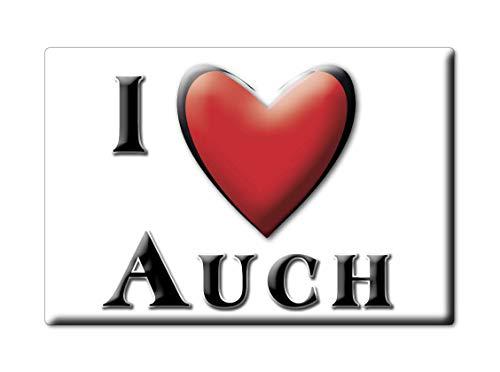 Enjoymagnets AUCH (32) FRIDGE MAGNET FRANCE PICARDIE SOUVENIR I LOVE GIFT...