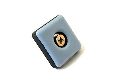 GLEITGUT 24 x Teflongleiter zum Schrauben eckig 25 x 25 mm - PTFE Möbelgleiter - 5 mm stark