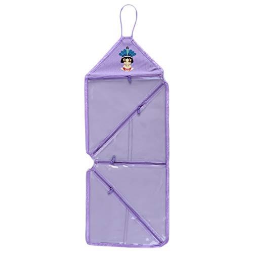 Pinhan Accroche des Articles De Toilette De Voyage Make Up Wash Bags Organizer Pochette De Douche Étanche Cas Cosmétique avec Crochet, Violet