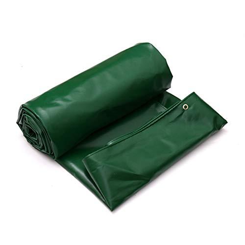 ZBM - ZBM Persenning zeildoek, polyester, waterdicht dekzeil voor in de auto, draagbaar zonnescherm voor tuinmeubelen, waterdicht 4m×3m groen