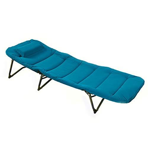 UCYG Cama Canapé Abatible Plegable para Invitados,Armadura De Metal Butaca Sofa con Colchón 1 Plazas para Camping Piscina Jardín, Carga De 120 Kg, 190x69x37cm