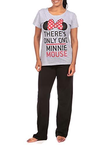 Disney Damen Minnie Mouse Schlafanzug Grau X-Large