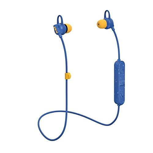 Jam Live Loose Auricolari Bluetooth Senza Fili, 6 Ore di Riproduzione, Raggio di 10 Metri, Vivavoce, Cuffie Sportive dal Design Leggero, Blu