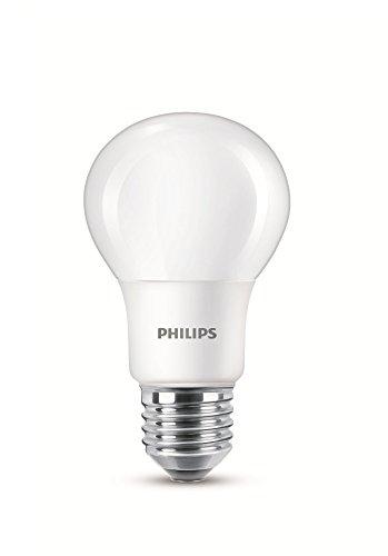 Philips Lampadina LED A60 E27 Edison, effetto luce diurna fredda, smerigliata, 6500 K, 7,5 W (60 W), Sintetico, White, E27, 7.5 wattsW 240 voltsV