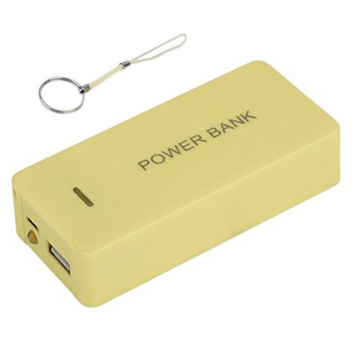 YLWL Carcasa para Banco de energía portátil, batería Externa de Respaldo móvil, Cargador Universal USB de 8400 mAh, Adecuado para teléfono (Amarillo)