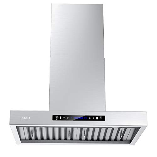 IKTCH 30 inches Wall Mount Range Hood, 900 CFM Stainless Steel Kitchen Chimney Vent with Gesture...