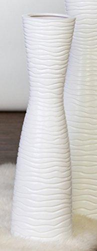 Casablanca Vase Tamera Keramik,weiß,H.58/D.14