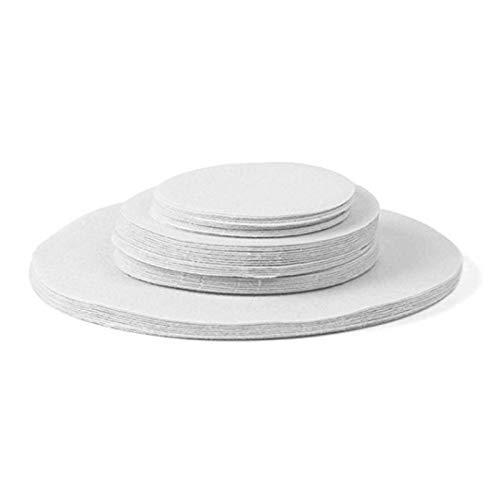Ardorman 48 Piezas de Almohadillas divisorias de Platos, Almacenamiento de Porcelana y Protectores de Fieltro para apilar Platos, 12xLarge / 24xMedium / 12xSmall