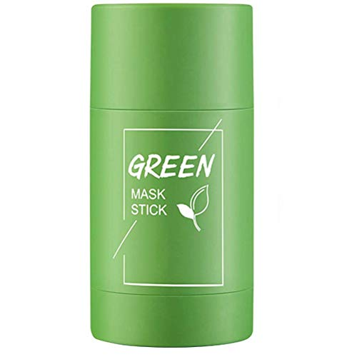 ZANLION Green Tea Purifying Clay Stick Solid Mask Acne Blackhead Remover Cleansing,Face Moisturizer Oil Control, Deep Clean Pore, Improves Skin,for All Skin Types (Green Tea)