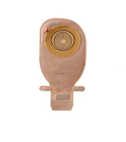 Caja de 30 bolsas colostomia ileostomia ostomia Coloplast fácil vaciado cierre hide-away disco plano recortable para estoma de12-75mm opaca color beige