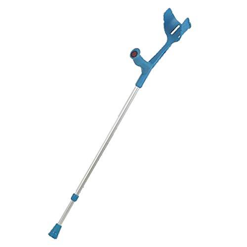 REBOTEC MAGIC-SOFT mit SOFT-GRIP Gehhilfe Unterarm-Gehstütze Krücke (Farbe:türkis)
