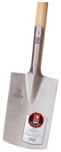 Gärtnerspaten Größe 2 Knopf-Griff poliert, 285 x 185 mm, 100 cm Stiel