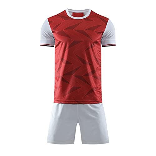 Gylsilai Maglia Da Calcio Arsenal Home, Set Di T-shirt Da Uomo In Jersey Da Calcio, Tuta Da Calcio Sportiva Da Allenamento Traspirante Ad Asciugatura Rapida (Color : Red, Size : M)