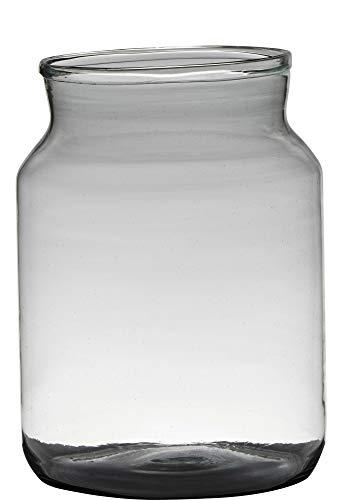 Vaas type Melkbus H30 D21 Handgemaakt Recycled Glas