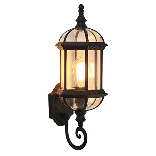 DO-MF Lanterne da Parete, Applique da Parete Vintage in Alluminio per Veranda, Applique da Parete per Esterni Impermeabili IP44 per Giardino, corridoio, Cortile
