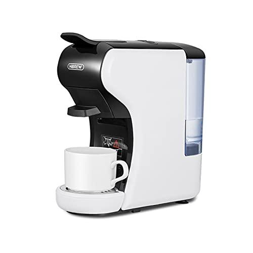 HiBREW H1 - Máquina de Café Espresso Italiano - Cafetera Multi Cápsulas 4 en 1, 19 Bares, 600 ml 1450 W (Blanco)
