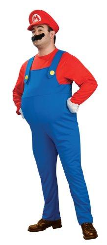 Rubies Costumes 195228 Super Mario Bros - Mario Deluxe Adulte Plus Costume - rouge - taille - plus