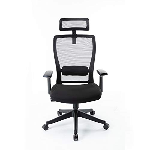 LCH Ergonomic Office Chair Adjustable Height Swivel Computer Task Chair Reclining Mesh Chair with High Back,Black