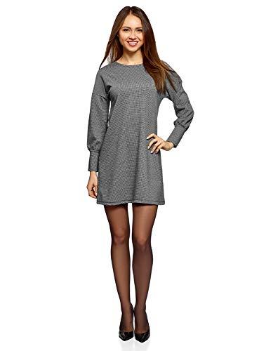 pequeño y compacto oodji Vestido extragrande con sisa caída para mujer, gris, ES 42 / L.