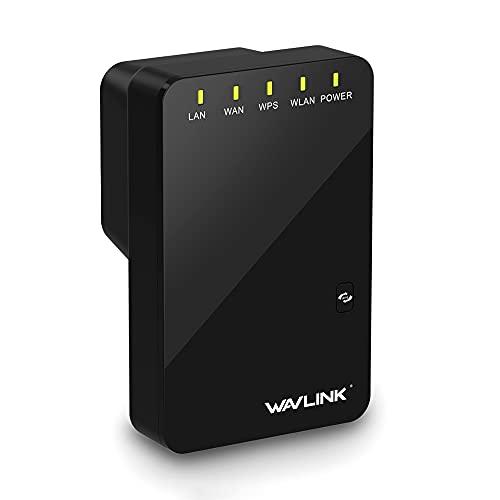 Repetidor Sem Fio WL-WN523N2 300Mbps Repetidor sem fio Amplificador de sinal WiFi Mini roteador sem fio com duas portas de rede Plug US