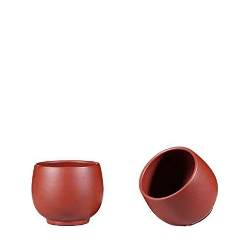 KANJJ-YU Tazón de té de arena morada hecha a mano Dahongpao taza maestra alemana completa Kung Fu Teacup Hervidor