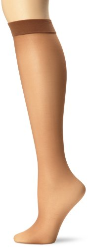 Hanes Silk Reflections Women s Knee High With No Slip Band, Barely There, One Size